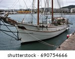 Boat Sailboat Moored In The...