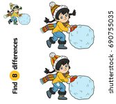 find differences  education... | Shutterstock .eps vector #690755035