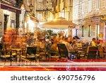 trogir  croatia   july 24  2017 ... | Shutterstock . vector #690756796