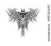celtic vector pattern as bull | Shutterstock .eps vector #690761692