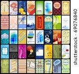 40 vertical business cards | Shutterstock .eps vector #69076840