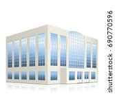 office building with entrance... | Shutterstock .eps vector #690770596