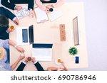 business handshake. business...   Shutterstock . vector #690786946