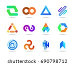 abstract vector icon collection ... | Shutterstock .eps vector #690798712