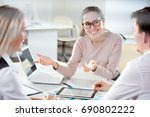 young business people... | Shutterstock . vector #690802222