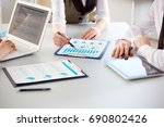 business people working with... | Shutterstock . vector #690802426