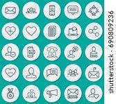 communication icons set.... | Shutterstock .eps vector #690809236