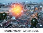 modern and wireless sensor... | Shutterstock . vector #690818956