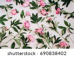 Floral Pattern Made Of Pink...