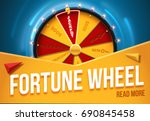 wheel of fortune 3d object... | Shutterstock .eps vector #690845458