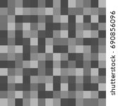 gray squares of different... | Shutterstock . vector #690856096