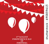independence day of indonesia... | Shutterstock .eps vector #690859615