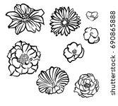 flowers vector. flowers... | Shutterstock .eps vector #690865888