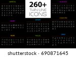 large thin line icons set.... | Shutterstock .eps vector #690871645