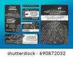 vector set of wild ocean... | Shutterstock .eps vector #690872032