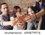 party with group of friends   Shutterstock . vector #690879976