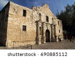 Small photo of SAN ANTONIO, TX – FEBRUARY 27: Tourists and locals enjoy a visit to the historic Alamo compound, one of San Antonio's main attractions February 27, 2017 in San Antonio, TX.