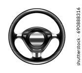 steering wheel isolated on... | Shutterstock .eps vector #690888316