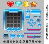 game interface buttons and...