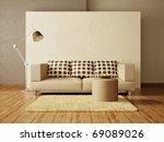 modern interior room with nice... | Shutterstock . vector #69089026