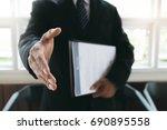 business find new job ... | Shutterstock . vector #690895558