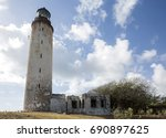 ragged point lighthouse. ragged ... | Shutterstock . vector #690897625