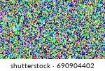 pixel noise tv vector. vhs... | Shutterstock .eps vector #690904402