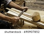 drawing wood chip of artisan...   Shutterstock . vector #690907852