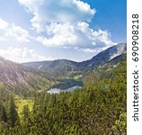 the steirersee at 1447m is a... | Shutterstock . vector #690908218