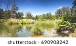 dechantlacke is 1 of many ponds ... | Shutterstock . vector #690908242