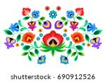 folk embroidery ornament with... | Shutterstock .eps vector #690912526