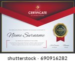 certificate template with... | Shutterstock .eps vector #690916282