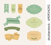 set of natural label and... | Shutterstock .eps vector #690924292