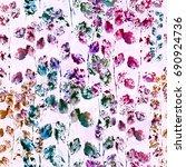 nature seamless pattern... | Shutterstock . vector #690924736