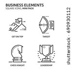 business elements  square mini... | Shutterstock .eps vector #690930112