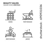 beauity salon  square mini icon ... | Shutterstock .eps vector #690931036