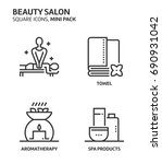 beauity salon  square mini icon ...