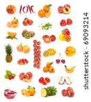 colorful healthy fruit collage   Shutterstock . vector #69093214