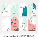 hand drawn creative tags.... | Shutterstock .eps vector #690940246