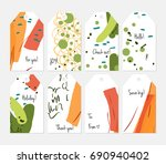 hand drawn creative tags.... | Shutterstock .eps vector #690940402