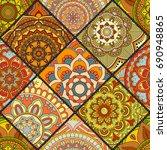 seamless pattern. vintage... | Shutterstock .eps vector #690948865
