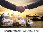 logistics and transportation... | Shutterstock . vector #690953572