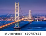 kobe  japan at akashi kaikyo...   Shutterstock . vector #690957688