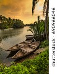 Wooden Boats In The Tropical...