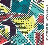 pop art vector seamless pattern ... | Shutterstock .eps vector #690968176