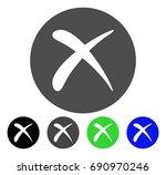 delete flat vector illustration.... | Shutterstock .eps vector #690970246