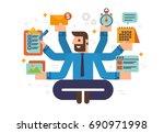 working businessman | Shutterstock .eps vector #690971998