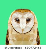 low poly owl | Shutterstock .eps vector #690972466