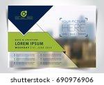 vector brochure  flyer ... | Shutterstock .eps vector #690976906