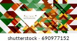 triangle pattern design... | Shutterstock .eps vector #690977152